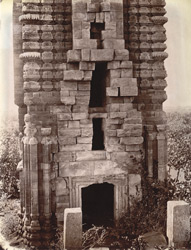 Temple at Banda, Manbhum District: detail of front of temple, showing entrance.